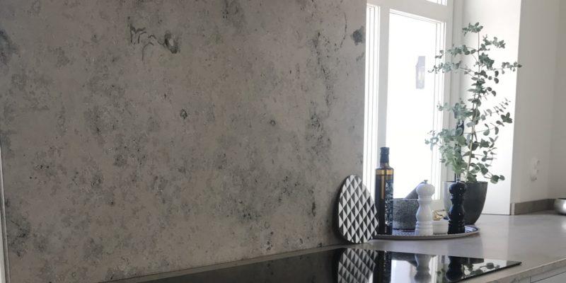 Eine Arbeitsoberfläche aus Kalkstein – Dinosaurier in Ihrem Wohnzimmer